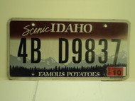 2012 IDAHO Scenic Famous Potatoes License Plate 4B D9837