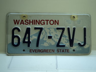 Washington Evergreen State License Plate 647 ZVJ