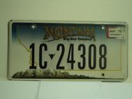 2010 MONTANA Big Sky License Plate 1C 24308