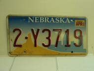 2002 NEBRASKA License Plate 2 Y3719