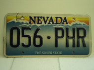 NEVADA Silver State License Plate 056 PHR