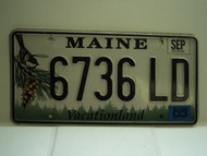2003 MAINE Vacationland License Plate 6736 LD