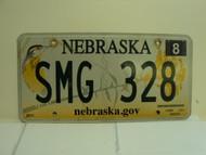 2013 NEBRASKA .GOV Western Meadowlark License Plate SMG 328 1