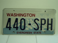 WASHINGTON Evergreen State License Plate 440 SPH