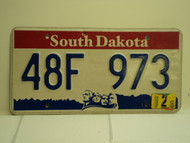 2004 SOUTH DAKOTA Mount Rushmore License Plate 48F 973