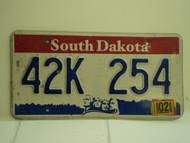 2006 SOUTH DAKOTA Mount Rushmore License Plate 42K 254 1
