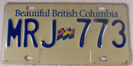 Beautiful British Columbia License Plate MRJ 773