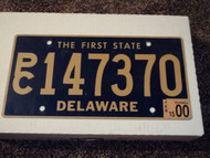 2000 DELAWARE The First State License Plate PC 147370