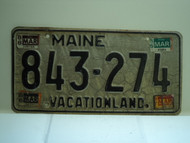 1985 1986 1987 1988 MAINE Vacationland License Plate 843 274