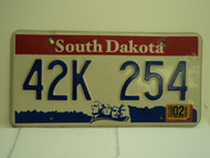 2006 SOUTH DAKOTA Mount Rushmore License Plate 42K 254