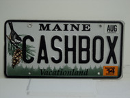 2014 MAINE Vacationland Vanity License Plate CASHBOX