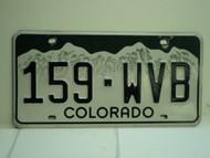 COLORADO License Plate 159 WVB