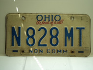 OHIO Heart of it all Non Commercial License Plate N 828 MT