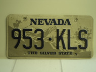 NEVADA Silver State License Plate 953 KLS