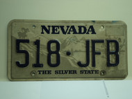 NEVADA Silver State License Plate 518 JFB