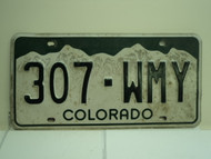 COLORADO License Plate 307 WMY