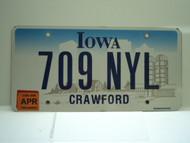 2006 IOWA License Plate 709 NYL