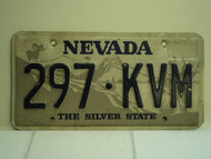 NEVADA Silver State License Plate 297 KVM