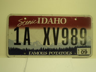 2011 IDAHO Scenic Famous Potatoes License Plate 1A XV989