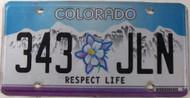 2010 Colorado 343 JLN Respect Life License Plate
