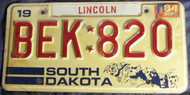 PAIR 1984 Souch Dakota DEK 820 License Plate