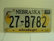 2013 NEBRASKA .GOV Western Meadowlark License Plate 27 B782 1