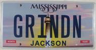 Mississippi Vanity License Plate GRINDN Jackson