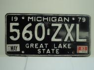 1979 MICHIGAN Great Lake State License Plate 560 ZXL
