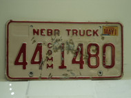 2002 NEBRASKA Commercial Truck License Plate 44 1480