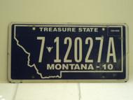 2010 MONTANA Treasure State License Plate 7012017A