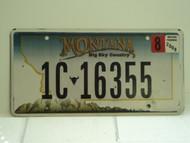2008 MONTANA Big Sky License Plate 1C 16355