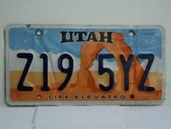 UTAH Life Elevated License Plate Z19 5YZ