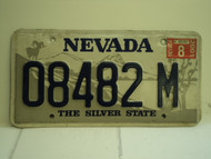 2001 NEVADA Silver State License Plate 08482 M