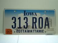 2006 IOWA License Plate 313 ROA