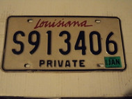 2000 LOUISIANA Private License Plate S913406