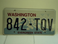 WASHINGTON Evergreen State License Plate 842 TQV