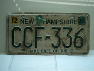 1999 NEW HAMPSHIRE Live Free or Die License Plate CFF 336