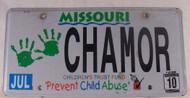 2010 Jul Missouri Vanity License plate CHAMOR 1