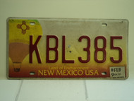2009 NEW MEXICO Land of Enchantment License Plate KBL385