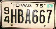 1978 Iowa 94 Webster County License Plate 1