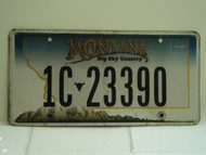 MONTANA Big Sky License Plate 1C 23390
