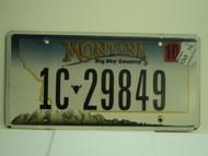 2010 MONTANA Big Sky License Plate 1C 29849