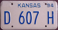 Kansas Dealer 1994 License Plate