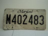 MARYLAND License Plate M402483