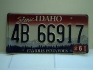 2006 IDAHO Famous Potatoes License Plate 4B 66917