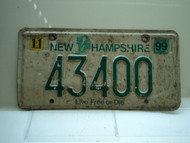 1999 NEW HAMPSHIRE Live Free or Die License Plate 43400