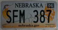 2012 June SFM 387 Nebraska License Plate