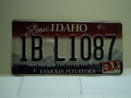 2009 IDAHO Famous Potatoes License Plate 1B L1087