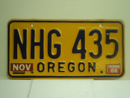 1988 OREGON License Plate NHG 435