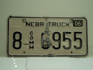 2004 NEBRASKA Commercial Truck License Plate 8 6955